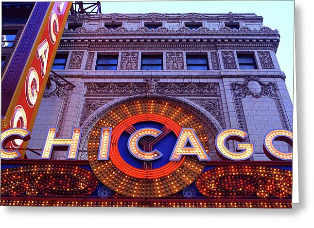 Facade Of The Chicago Theatre, State Greeting Card