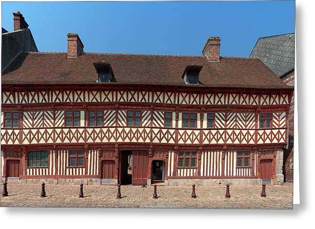 Facade Of The La Maison Henri Iv Greeting Card by Panoramic Images