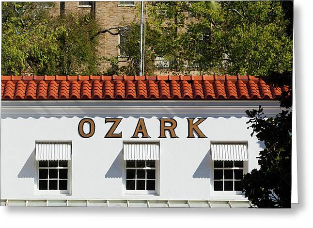Facade Of The Ozark Bathhouse Greeting Card