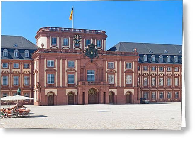 Facade Of The Palace, Mannheim Palace Greeting Card by Panoramic Images