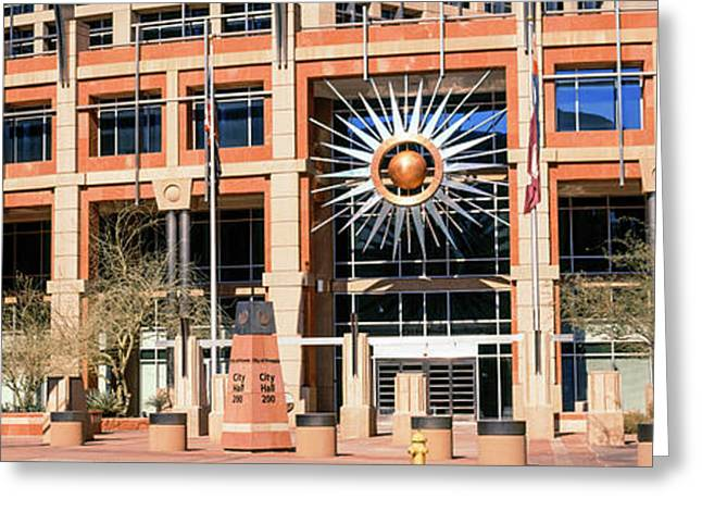 Facade Of The Phoenix City Hall Greeting Card