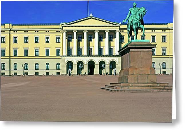 Facade Of The Royal Palace, Oslo, Norway Greeting Card