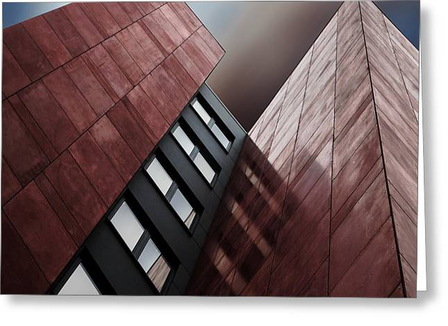 Facade Rouge Greeting Card