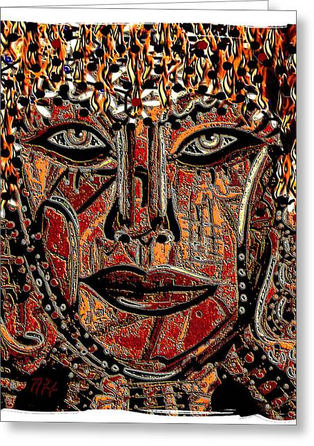 Face 9 Greeting Card by Natalie Holland