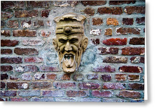 Face Fountain In Pirates Courtyard Greeting Card