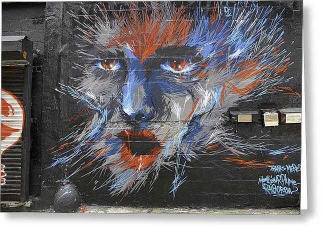 Face Graffiti 2014 Greeting Card