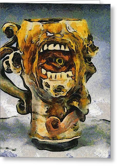 Face Mug By Face Jug  Greeting Card