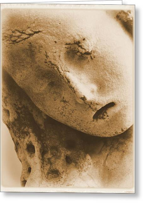 Greeting Card featuring the photograph Face Of An Angel by Nadalyn Larsen