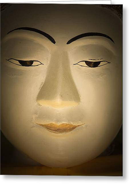 Face Of Buddha Greeting Card