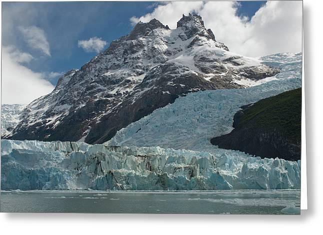 Face Of Glacier, Los Glaciares Greeting Card