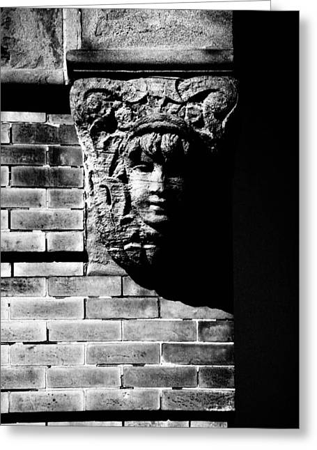 Face Of Stone Greeting Card by Karol Livote
