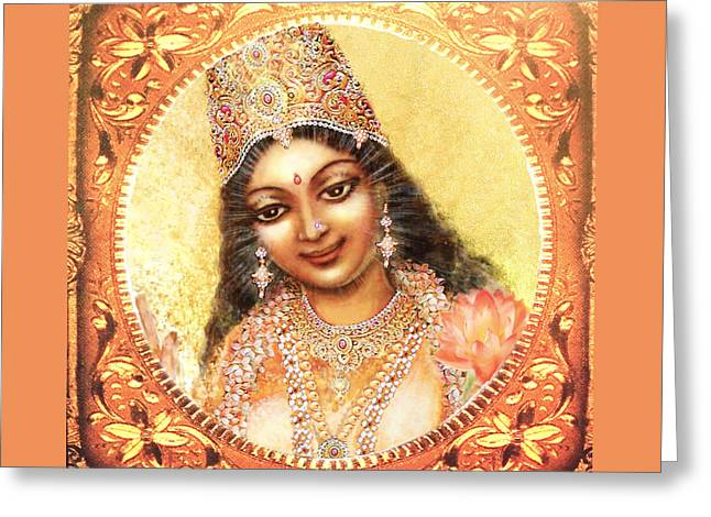 Face Of The Goddess - Lalitha Devi  Greeting Card by Ananda Vdovic