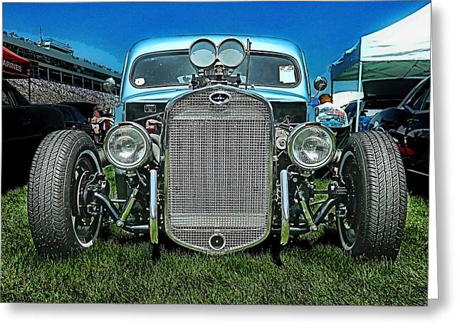 Face Of The Rat Rod Greeting Card