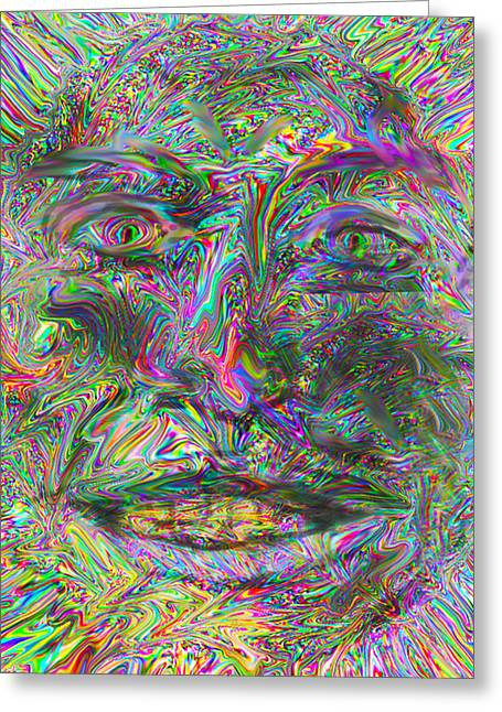 Face On Fire Greeting Card