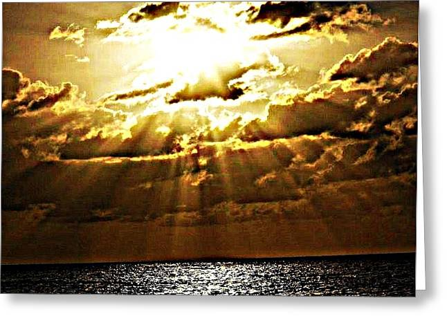 Face On The Horizon Greeting Card by Hilton  Woodside