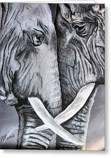Face To Face Greeting Card by Maris Sherwood