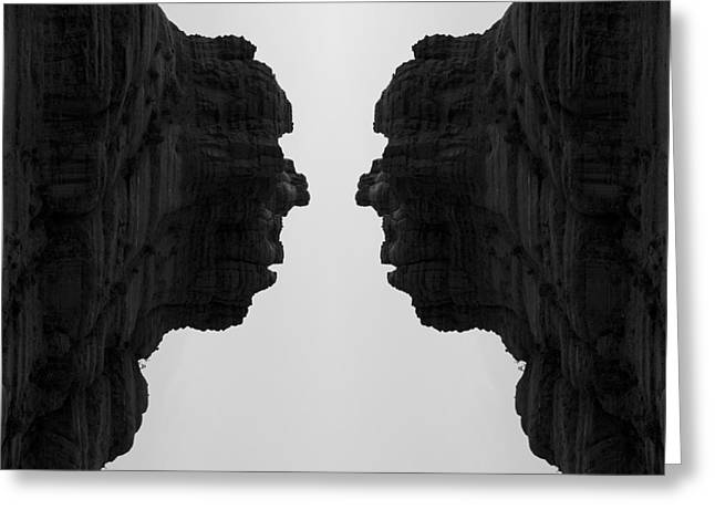 Face To Face Montage II Greeting Card by Dave Gordon