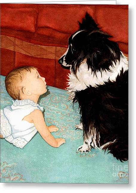 Face-to-nose Greeting Card by Barbara Jewell