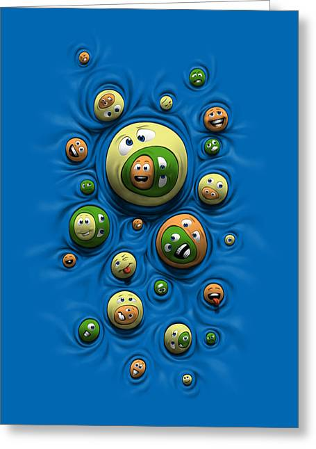 Emoticontagious Greeting Card