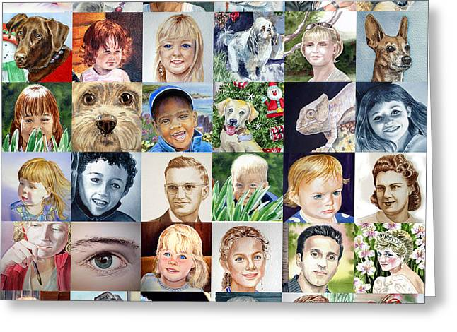 Facebook Of Faces Greeting Card