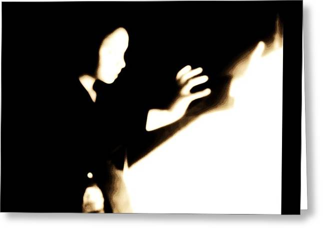 Greeting Card featuring the photograph Faceless Magician  by Jessica Shelton