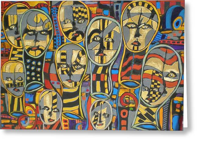 Faces #1 Greeting Card