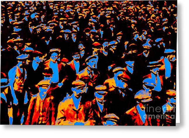 Faces In The Crowd - 20130208 Greeting Card by Wingsdomain Art and Photography