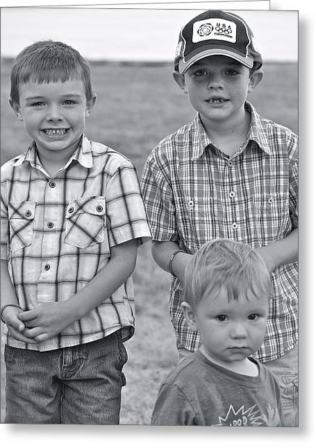 Greeting Card featuring the photograph Faces Of America by Barbara Dudley