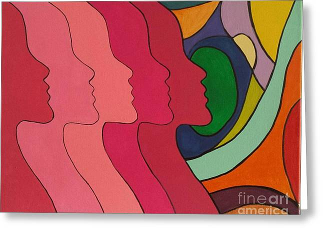Faces Of Courage Greeting Card by SNS Expressions