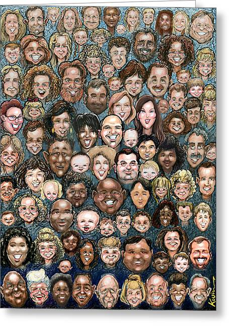Faces Of Humanity Greeting Card by Kevin Middleton
