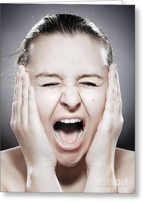 Facial Expression - Scream Greeting Card