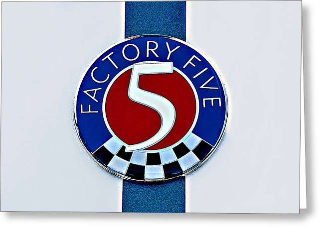 Factory Five Greeting Card