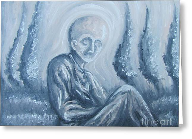 Greeting Card featuring the painting Fade Away by Michael  TMAD Finney