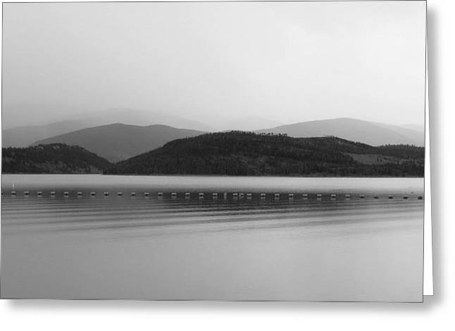 Greeting Card featuring the photograph Fade To Gray by Karen Shackles