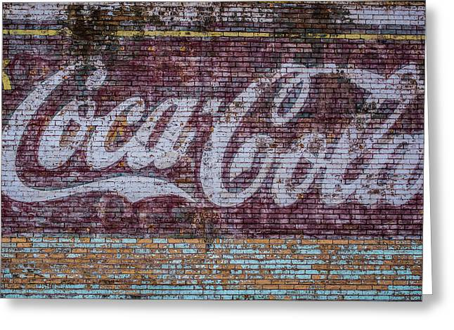 Faded Coca Cola Sign Greeting Card by Paul Freidlund