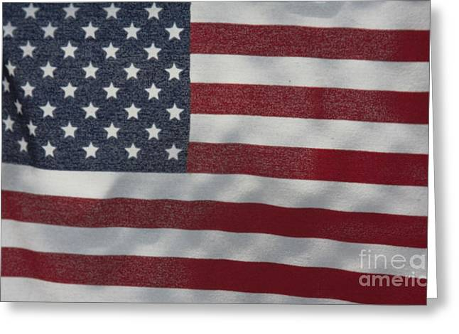 Faded Old Glory Greeting Card by Jerry Bunger