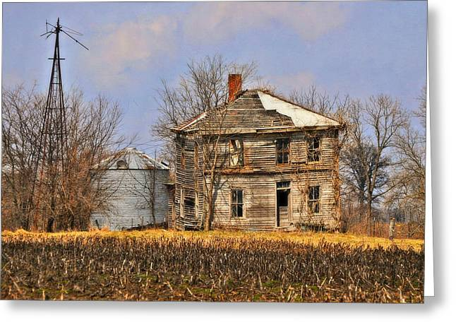 Fading Farm Greeting Card by Marty Koch