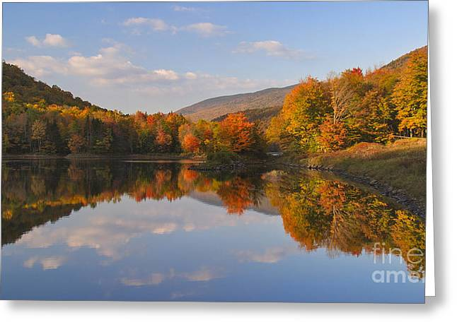 Fading Light On Searsburg Reservoir Greeting Card