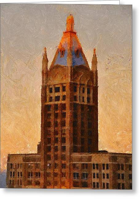 Fading Slowly Into Night Greeting Card by Jeff Kolker