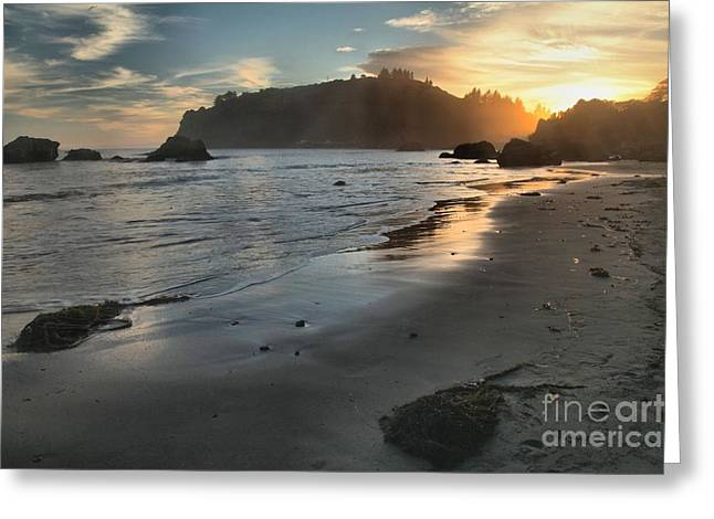 Fading Sun Greeting Card by Adam Jewell
