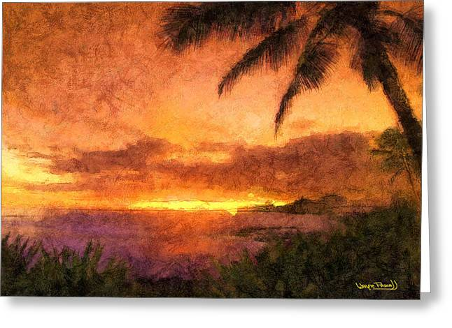 Fading Sunset Greeting Card by Wayne Pascall