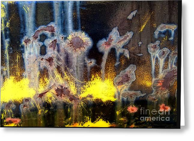 Fae And Fireworks Abstract Greeting Card