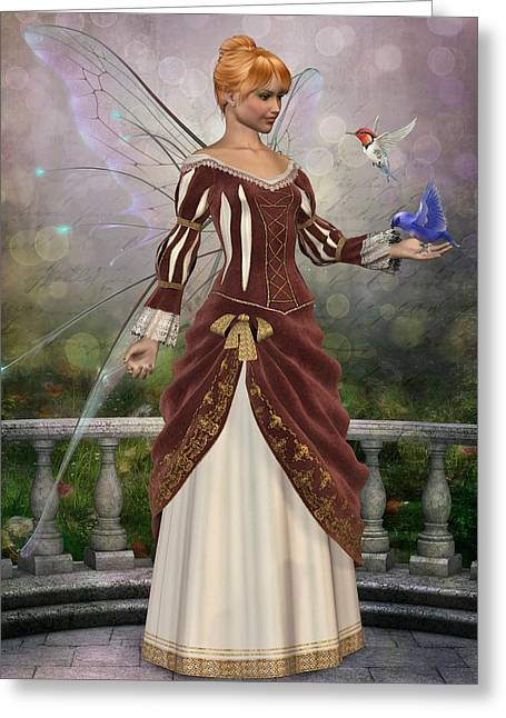 Faerie Garden 2 Greeting Card by David Griffith