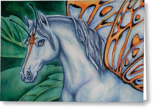 Faery Horse Star Fyre Greeting Card by Beth Clark-McDonal
