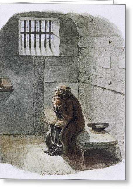 Fagin In Prison Greeting Card by British Library