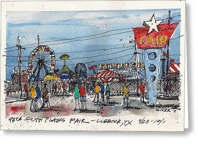 Greeting Card featuring the mixed media Fair Time by Tim Oliver