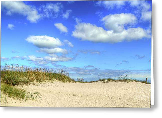 Fair Weather Along The Beach Greeting Card