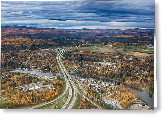 Fairbanks Alaska The George Parks Highway Greeting Card