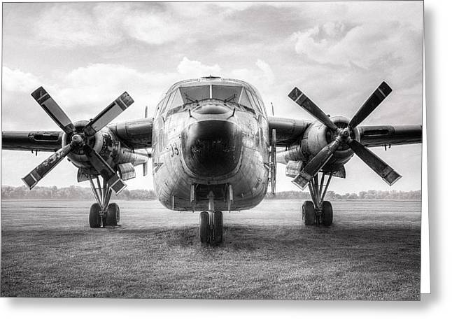 Greeting Card featuring the photograph Fairchild C-119 Flying Boxcar - Military Transport by Gary Heller