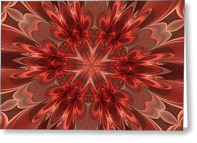 Fairest Of Them All Kaleidoscope Greeting Card